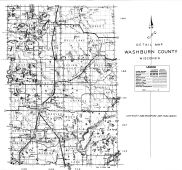 Washburn County Detail Map, Washburn County 1952